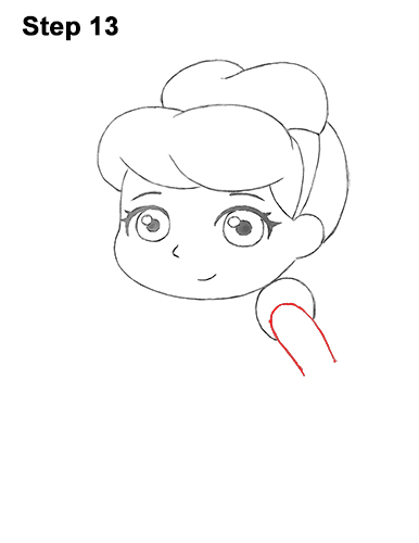 Draw Mini Chibi Little Cinderella 13