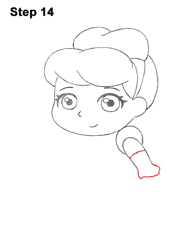 Draw Mini Chibi Little Cinderella 14