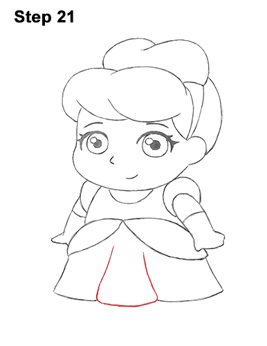 Draw Mini Chibi Little Cinderella 21