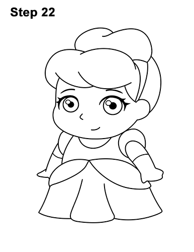 Draw Mini Chibi Little Cinderella 22