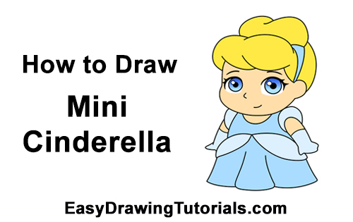 How to Draw Mini Chibi Cinderella