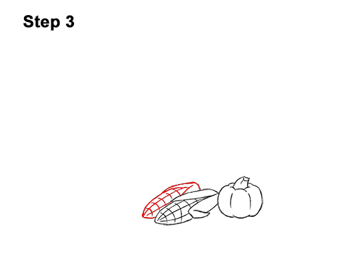 How to Draw Cartoon Cornucopia Thanksgiving 3