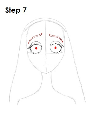 How to Draw Corpse Bride Step 7