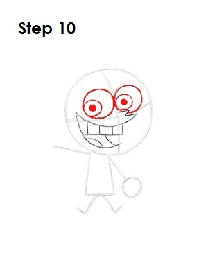 How to Draw Cosmo Step 10