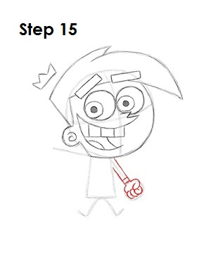 How to Draw Cosmo Step 15
