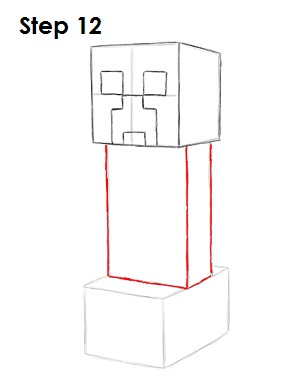 how to make a creeper in minecraft step by step