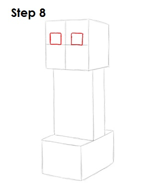 Draw Minecraft Creeper 8