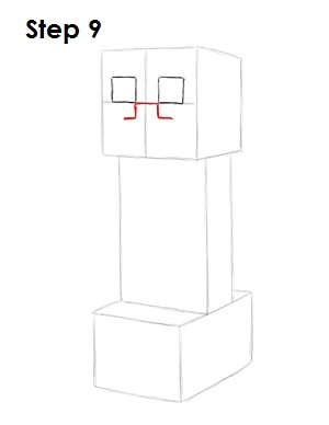Draw Minecraft Creeper 9