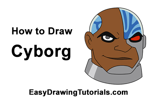 How to Draw Cyborg (Teen Titans) Easy Drawings Of Tom And Jerry