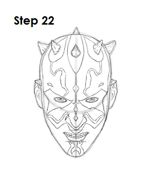 Draw Darth Maul 22