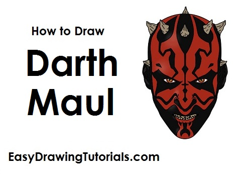Darth Maul Line Drawing How to Draw Darth Maul