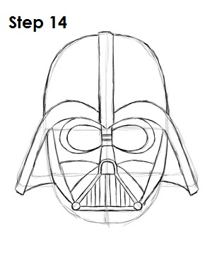 Draw Darth Vader Step 14