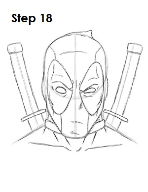 draw deadpool marvel 18