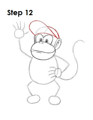 How to Draw Diddy Kong Step 12