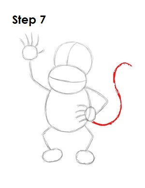 How to Draw Diddy Kong Step 7