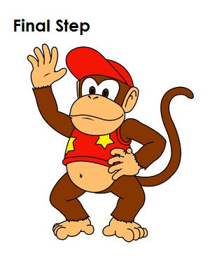 How to Draw Diddy Kong Final Step