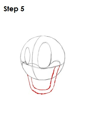 Draw Donald Duck Step 5