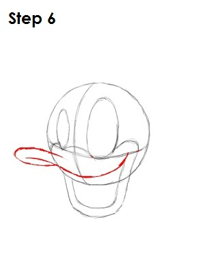 Draw Donald Duck Step 6