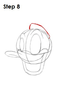 Draw Donald Duck Step 8