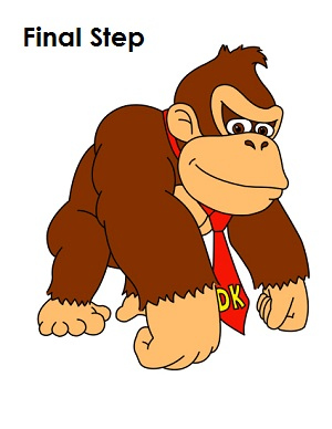 Draw Donkey Kong Completed Drawing