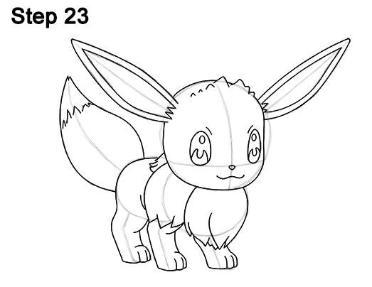 How To Draw Eevee From Pokemon