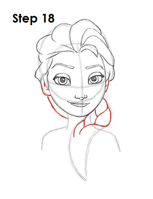 Draw Elsa Frozen 18
