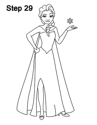 Frozen Elsa Drawing