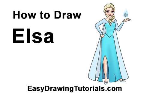 How To Draw Elsa Full Body From Frozen