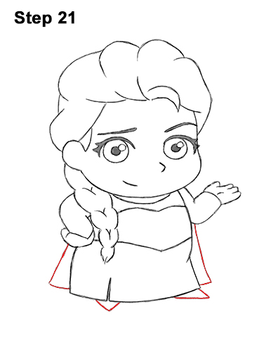 Draw Mini Chibi Cute Little Elsa Frozen 21