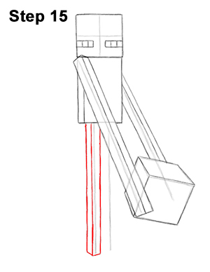 Draw Minecraft Enderman 15
