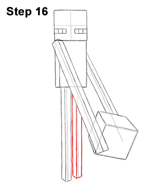Draw Minecraft Enderman 16