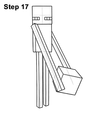Draw Minecraft Enderman 17