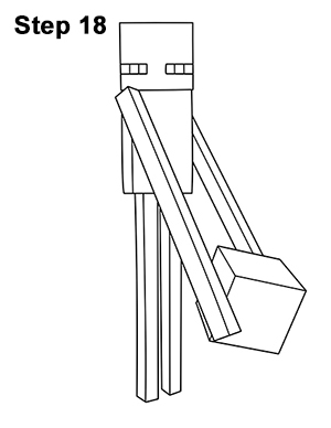 Draw Minecraft Enderman 18