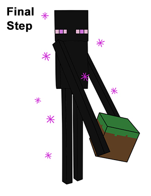 Draw Minecraft Enderman