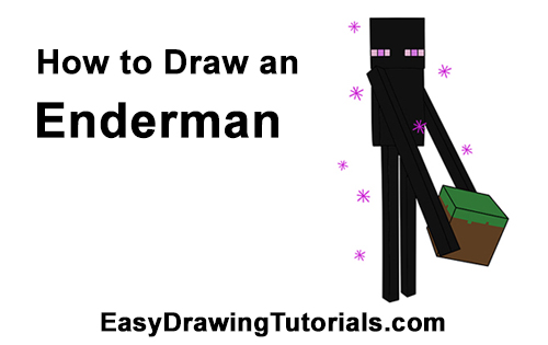 how to draw an enderman minecraft