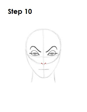 How to Draw Evil Queen Step 10