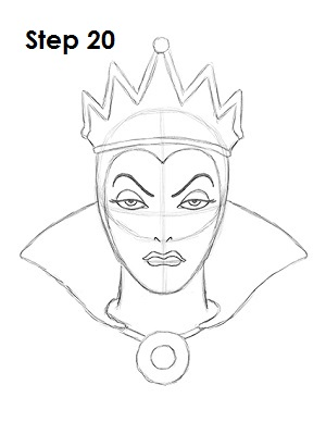 Snow white evil queen drawing images for Evil queen coloring pages
