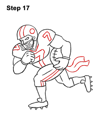 How to Draw Cartoon Football Player 17