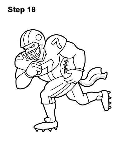 How to Draw Cartoon Football Player 18