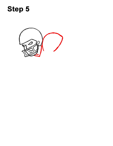 How to Draw Cartoon Football Player 5