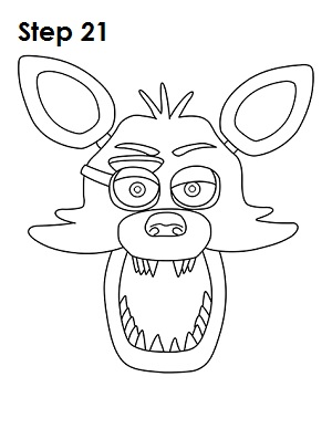 Draw Foxy Five Nights At Freddys 21