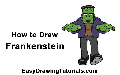 how to draw victor frankenstein