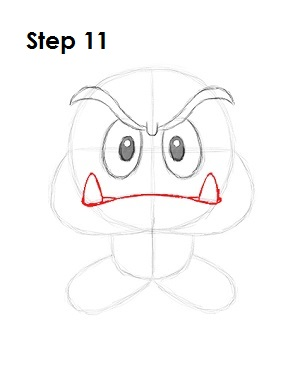 How to Draw Goomba Step 11