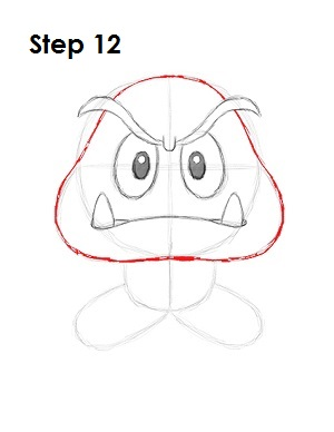 How to Draw Goomba Step 12