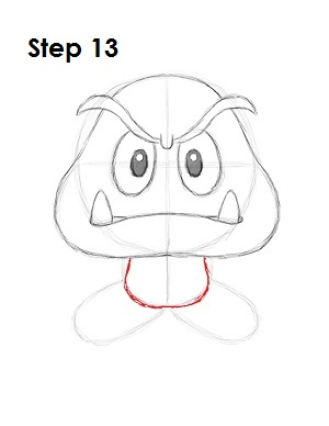 How to Draw Goomba Step 13