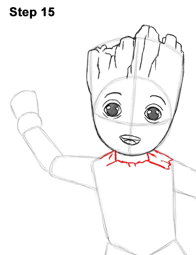 How to Draw Baby Groot Full Body Guardians of the Galaxy 15