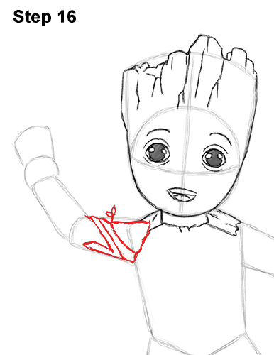 How to Draw Baby Groot Full Body Guardians of the Galaxy 16