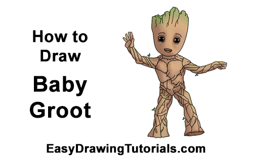 How To Draw Baby Groot