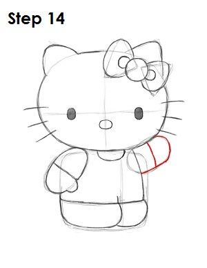 Draw Hello Kitty Step 14