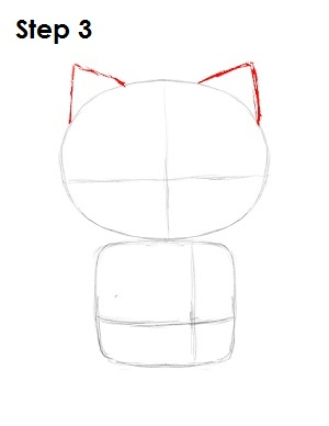 draw hello kitty step 3